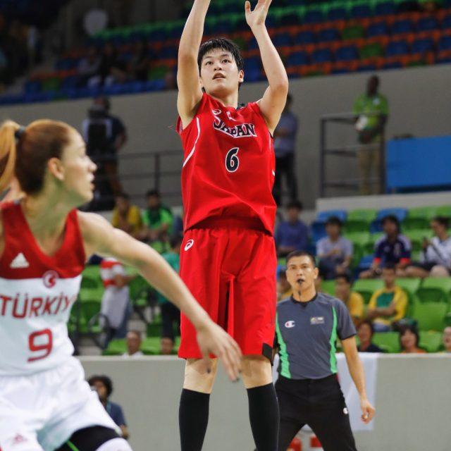 #6間宮 佑圭選手のジャンプシュート