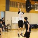 シュートを放つ満田 丈太郎選手(筑波大学 3年)