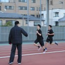 朝6時のラントレーニングから練習スタート
