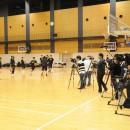 多くの報道陣が詰め寄せたメディア公開練習