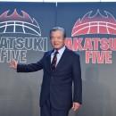 男子日本代表は黒メイン、女子日本代表は赤メインのロゴ