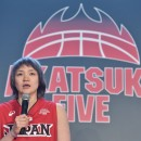 抱負を語る吉田 亜沙美選手