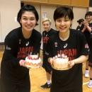祝結婚!大﨑 佑圭選手と22歳の誕生日を迎えた根本 葉瑠乃選手