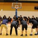 横地 聖真選手(春日井市立岩成台中学校 3年)が声がけし、練習スタート