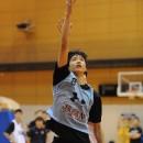 木林 優選手(世田谷区立梅丘中学校 3年)のレイアップシュート