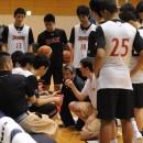 練習試合前の男子U-16日本代表ベンチ