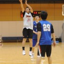 西田 公陽選手(海陽町立海陽中学校 3年)の3Pシュート