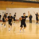 バスケットボールとテニスボールを使ったハンドリング練習