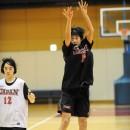 三浦 舞華選手(富谷町立富谷中学校 3年)のジャンプシュート