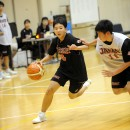 1on1を仕掛ける中山 桂選手(桐生市立中央中学校 3年)