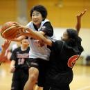 ゴールに向かう森 美月選手(松山市立勝山中学校 3年)