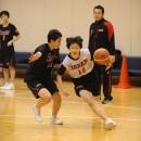 森 美月選手(松山市立勝山中学校 3年)の1on1